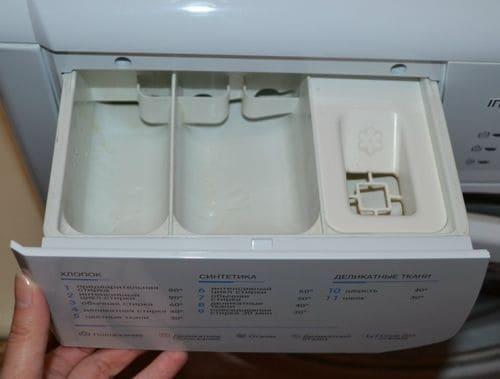 Не смывается порошок моющее средство в лотке дозаторе